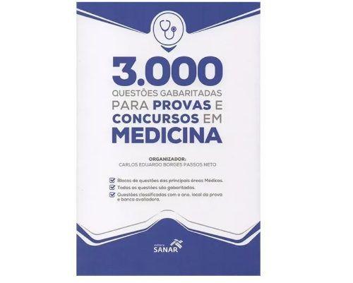 Livro 3.000 Questões Gabaritadas Provas E Concursos Em Medicina