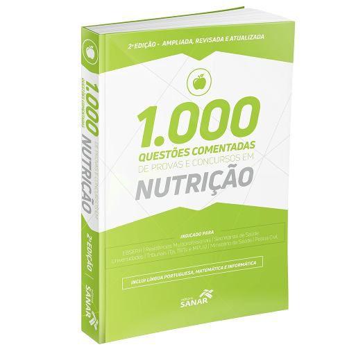 Livro 1.000 Questões Comentadas Nutrição 2ª Edição