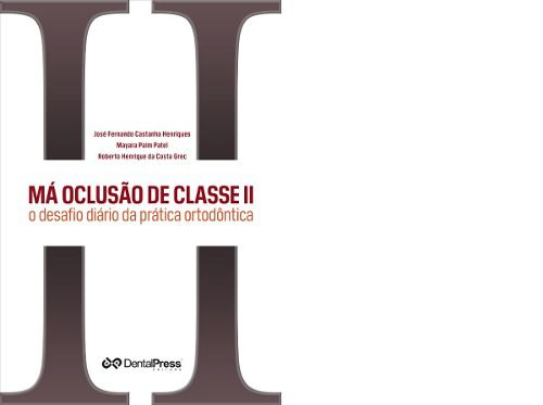 Livro Má Oclusão De Classe Il