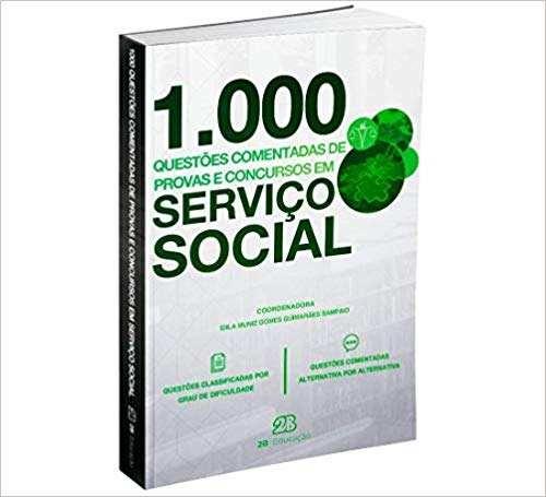Livro 1000 Questões Comentadas Provas Concursos Em Serviço Social