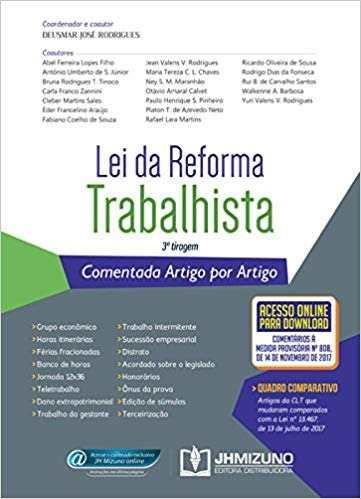 Livro Lei Da Reforma Trabalhista Comentada. Artigo Por Artigo