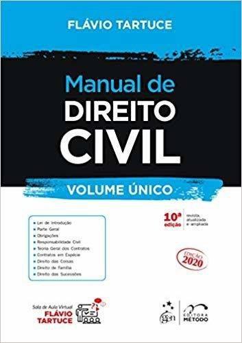 Manual De Direito Civil Vol. Único, 10ª 2020, Tartuce