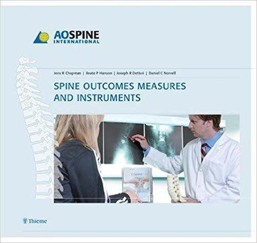 Livro Spine Outcomes Measures And Instruments, 1 Ed 2008
