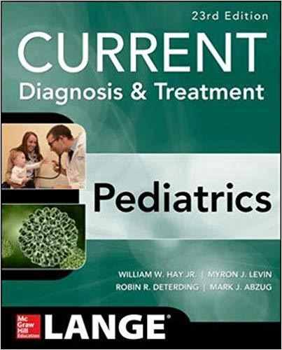 Livro Current Diagnosis And Treatment Pediatrics