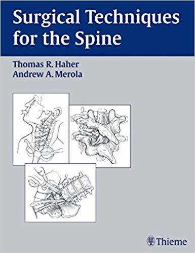 Livro Surgical Techniques For The Spine