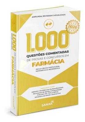 Livro 1.000 Questões Comentadas De Provas E Concursos Em Farmácia