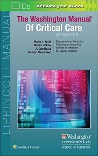 Livro The Washington Manual Of Critical Care
