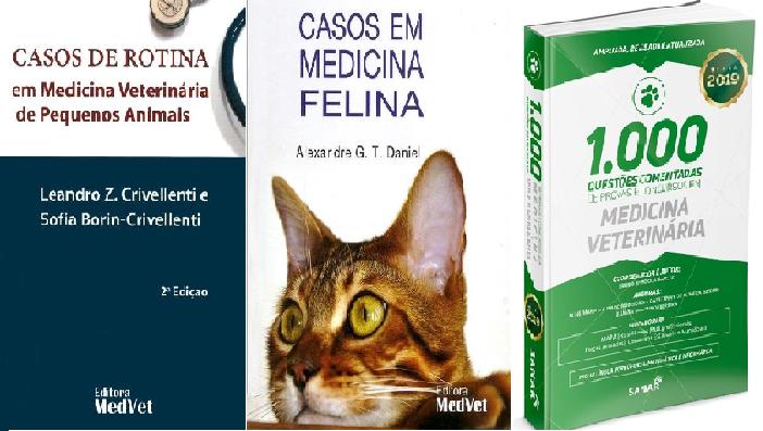 Casos de Rotina + Casos de Medicina Felina + 1.000 Questões em Medicina Veterinária