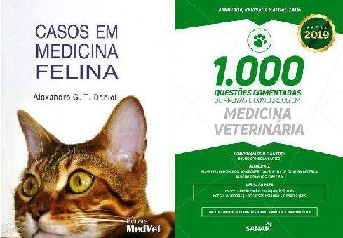 Casos Em Medicina Felina e 1000 Questões Comentadas em Medicina Veterinária