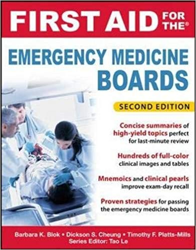 Livro First Aid for the Emergency Medicine Boards