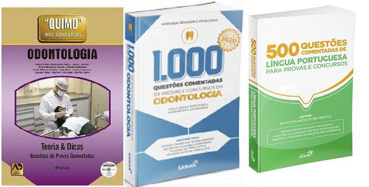 Combo Quimo Odonto, 1000 Questões Em Odonto E 500 Questões Comentadas De Língua Portuguesa