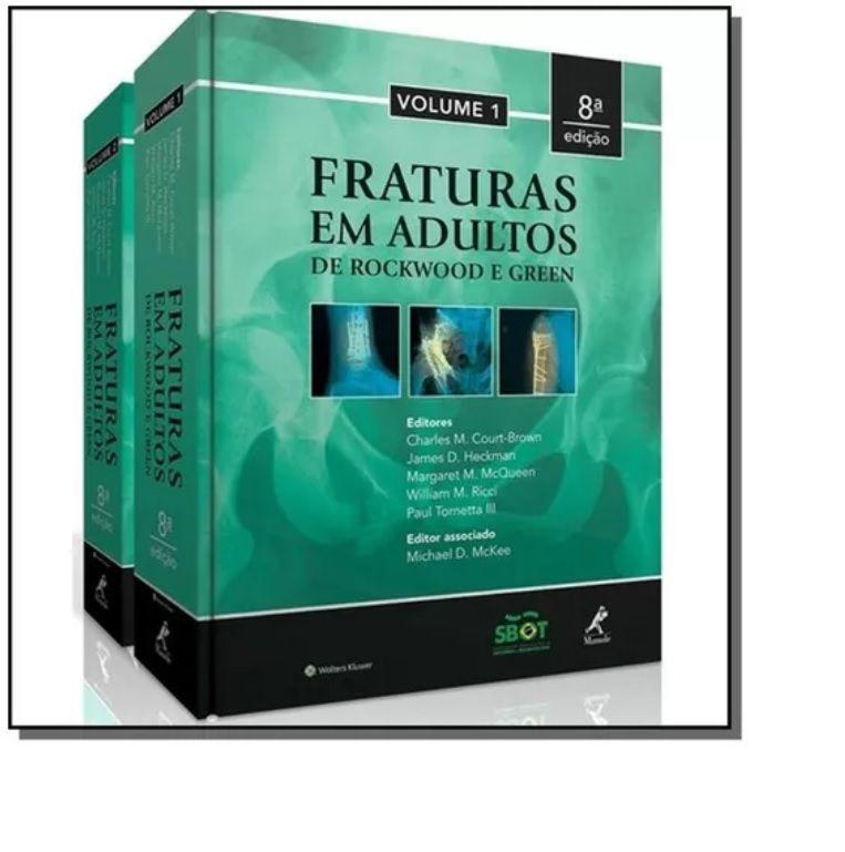 Livro Fraturas Em Adultos De Rockwood & Green - 2 Volume