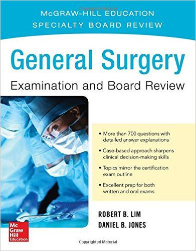 Livro General Surgery Examination and Board Review