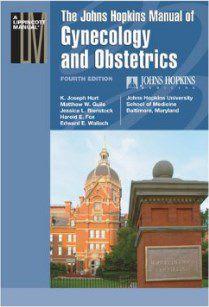 Livro Johns Hopkins Manual of Gynecology and Obstetrics
