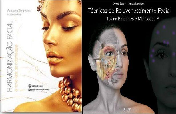 Kit Harmonização Facial - A Nova Face da Odontologia + Técnicas De Rejuvenescimento Facial Toxina Botulínica e MD Codes