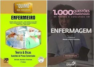 Kit Quimo Enfermeiro + 1.000 Quest Comentadas Provas Enfermagem