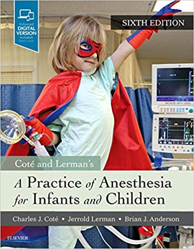 Livro A Practice of Anesthesia for Infants and Children,6ªEd
