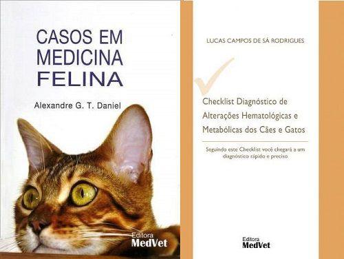 Livro Casos Em Medicina Felina e Checklist Diagnóstico De Alterações Hematológicas E Metabólicas em Cães e Gatos
