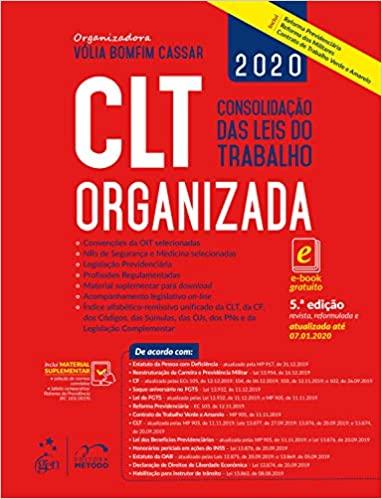 CLT Organizada Consolidação das Leis do Trabalho