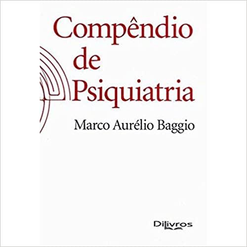 Livro Compendio De Psiquiatria, 1ª Edição