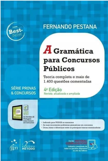 Gramática Para Concursos Públicos e Provas, 4ª ed 2019