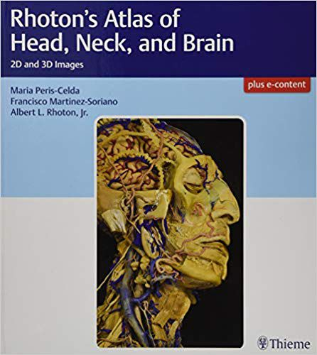 Livro Rhoton's Atlas of Head, Neck, and Brain: 2D and 3D Images