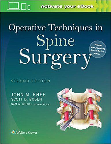 Livro Operative Techniques In Spine Surgery