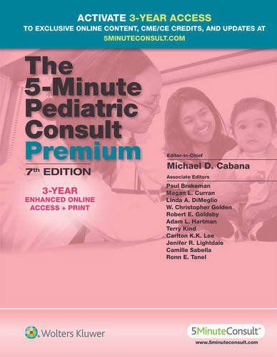 Livro The 5-Minute Pediatric Consult Premium