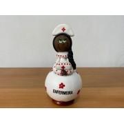 Boneco em Cabaça Profissões  - A Enfermeira