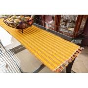 Caminho de mesa retalho seco amarelo