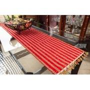 Caminho de mesa retalho seco vermelho
