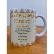 Caneca em Porcelana 300 ml - Pão de Queijo Mineiro