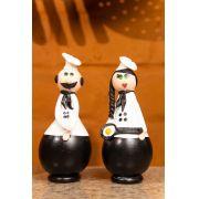Chefes decorativos em cabaça