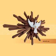 Divino Resplendor 40 cm x 60 cm - Marrom sem Flores