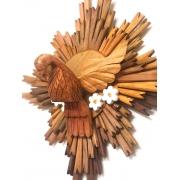 Divino Resplendor em Madeira Rústica - 60 cm x 60 cm