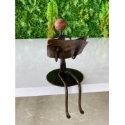 Escultura Artesanal em Ferro Leitor Sentado I