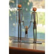 Escultura Artesanal Família em Ferro