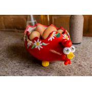 Galinhas porta ovos em cabaça