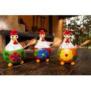 Kit com 3 farinheiras em cabaça