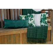 Kit Manta Verde Escura + Capas de Almofadas Costela de Adão