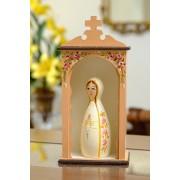 Kit Mini Oratório e Nossa Senhora de Fátima em Toco