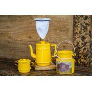 Kit para café 01 litro amarelo