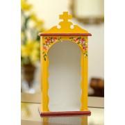 Mini Oratório em Madeira sem Portas - Amarelo