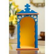Mini Oratório em Madeira sem Portas - Azul Escuro