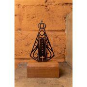 Nossa Senhora Aparecida ferro base em madeira