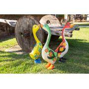Patos madeira com sapatos