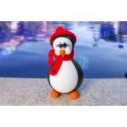 Pinguim em Cabaça com Toca e Cachecol de Lã