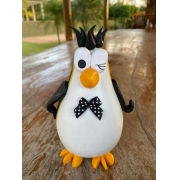 Pinguim Decorativo em Cabaça - Com Cabelinho