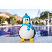 Pinguim em Cabaça com Toca e Cachecol em Biscuit