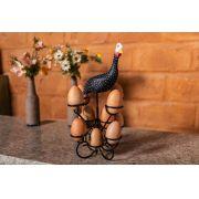 Porta Ovos em Ferro com Galinha ao Topo